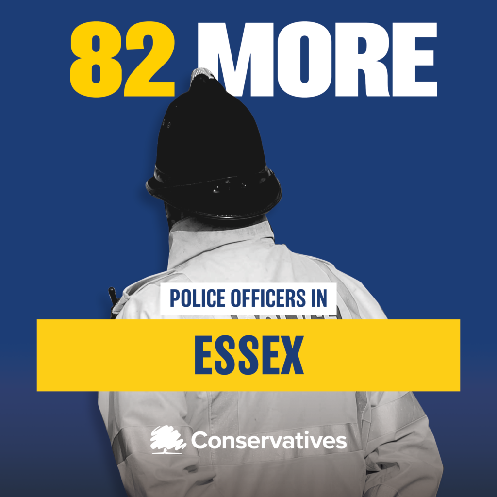 Essex Police bolstered by an extra 82 police officers