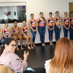 Q & A session for Priti Patel and the Dance World Cup Team.