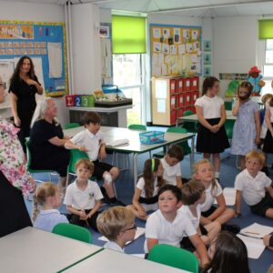 Priti in class at Kelvedon St Mary's Primary Academy