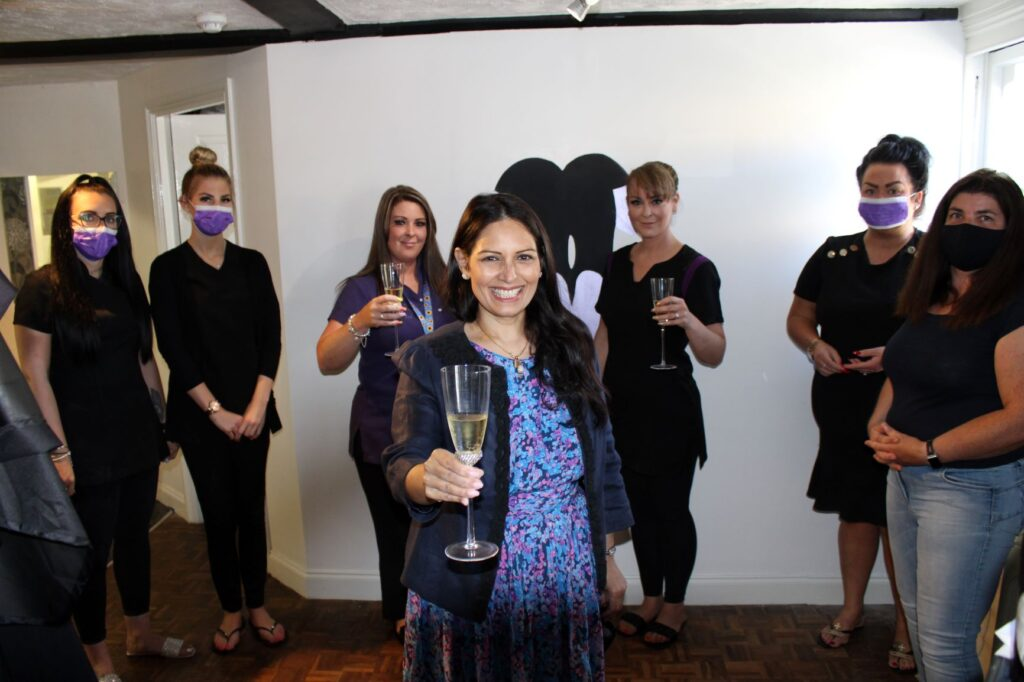 Priti calls in to help the Finishing Touches Salon celebrate 17 years of hair and beauty in Witham