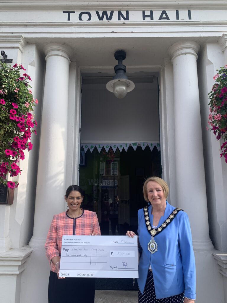 Priti Visits Newly Renovated Witham Town Hall